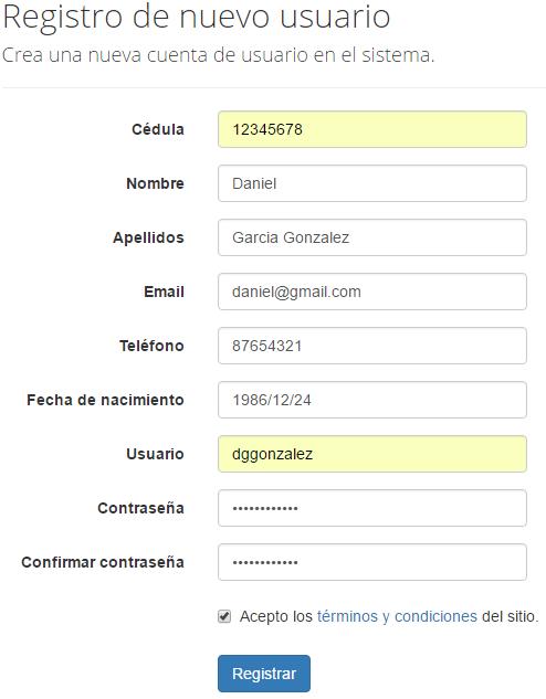 e9762ee72b5e0 Complejo Deportivo FURATI - Canchas FURATI - Registrar nuevo usuario -
